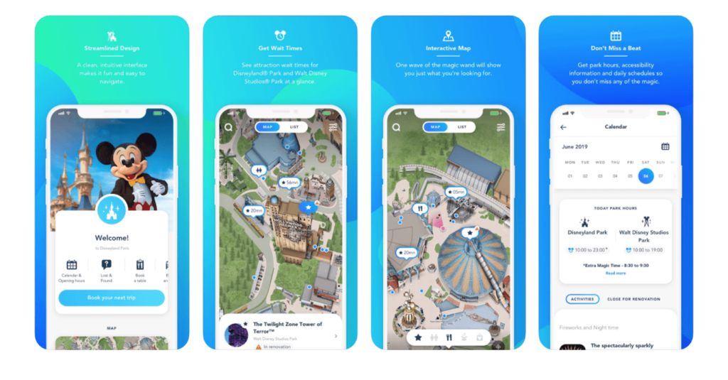 Aplikacja Disneyland na telefon