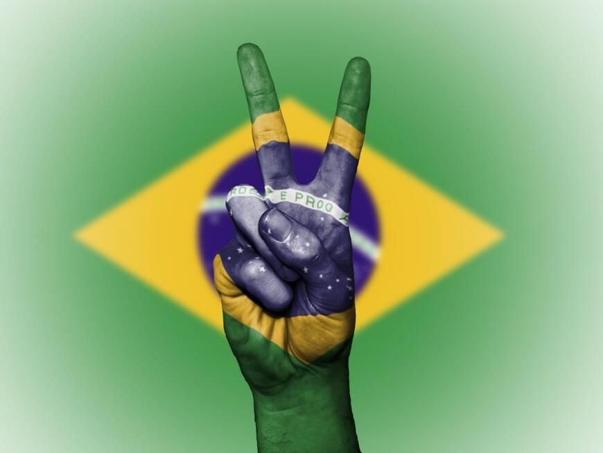 Znak pokoju na brazylijskiej fladze