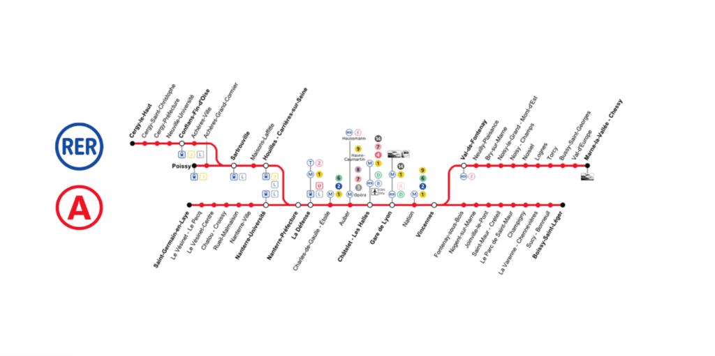 Rozkład metra w Paryżu