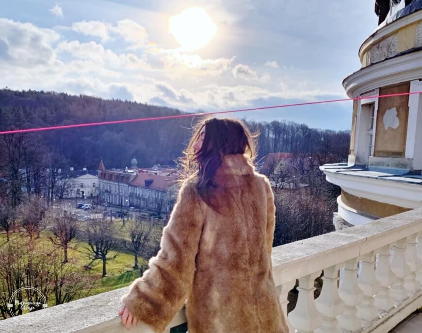 Widok z balkonu sanatoryjnego Szczawno-Zdrój