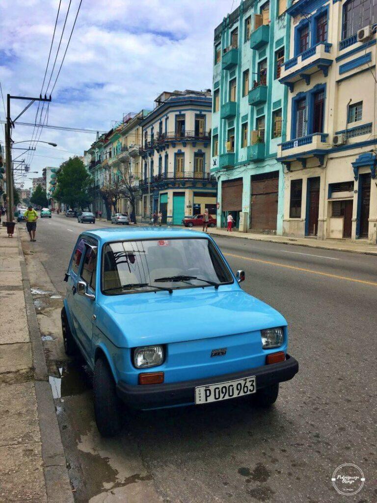 polski fiat 126p na Kubie