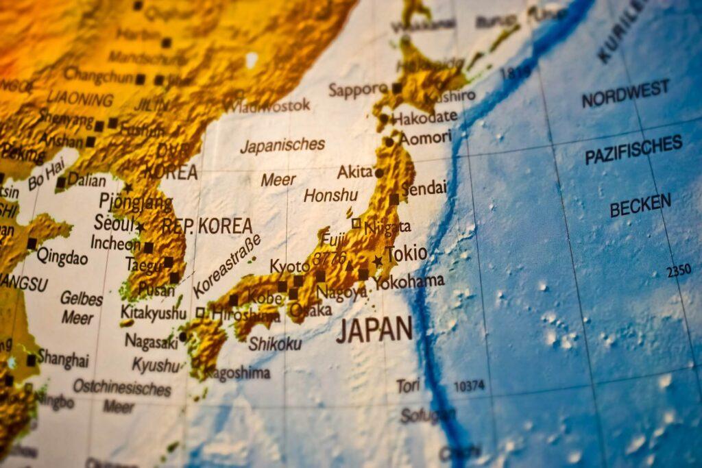 Mapa Japonii