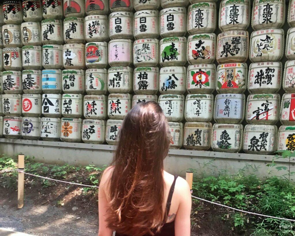 Baryłki sake w yoyogi parku