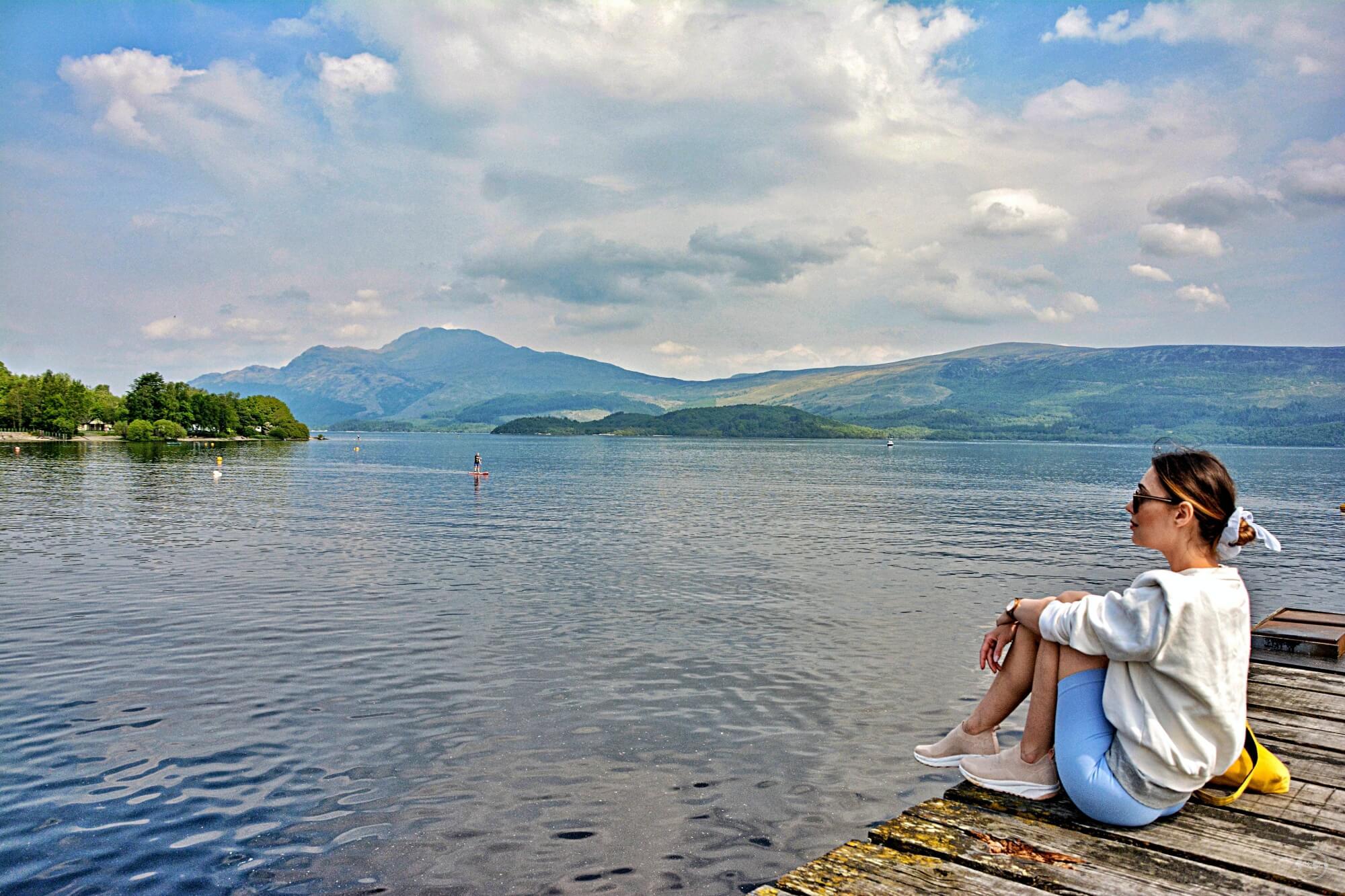 Jezioro Loch Lomond w Luss