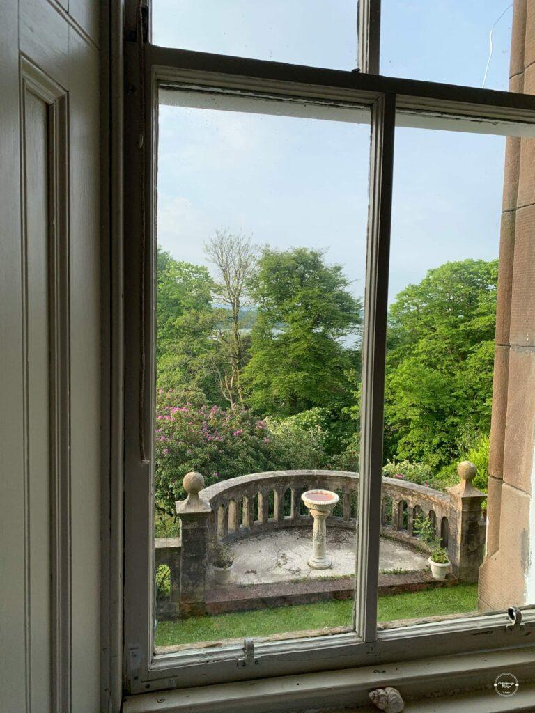 Widok z okna Knockderry Castle